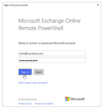 PowerShell Connect to Exchange Online when MFA is enabled
